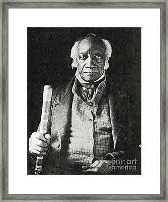 Caesar, Last Slave In New York Framed Print by Photo Researchers