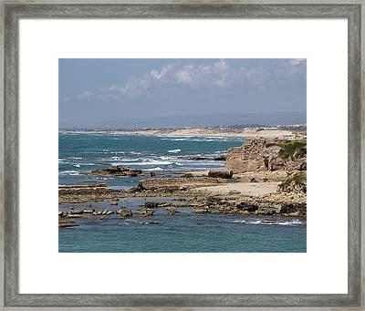 Caesarea Seascape Israel Framed Print