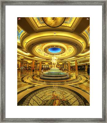 Caesar's Grand Lobby Framed Print