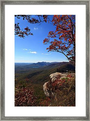 Caesars Head State Park In Upstate South Carolina Framed Print