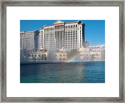 Caesar's Rainbow Framed Print by Rae Tucker