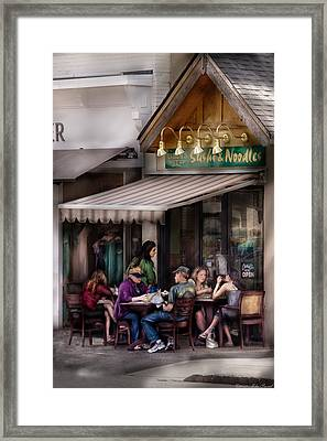Cafe - Westfield Nj - Gabi's Sushi And Noodles Framed Print by Mike Savad