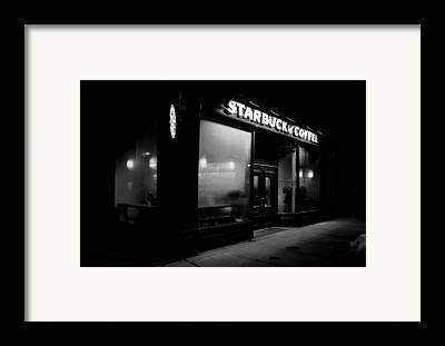Cafes At Night Framed Prints