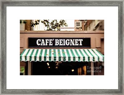 Cafe' Beignet Framed Print