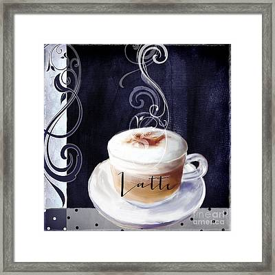Cafe Blue II Framed Print by Mindy Sommers