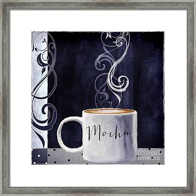 Cafe Blue IIi Framed Print by Mindy Sommers
