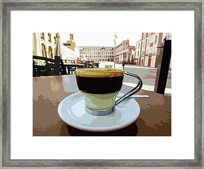 Cafe Bombon Framed Print