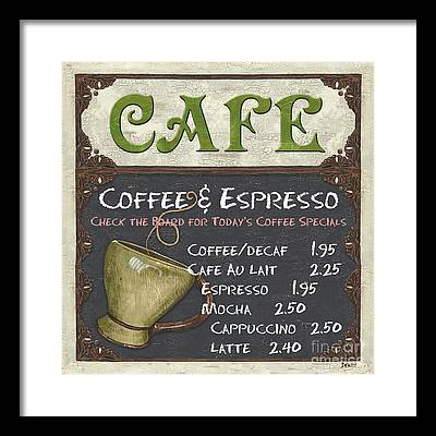 Cafe Framed Prints