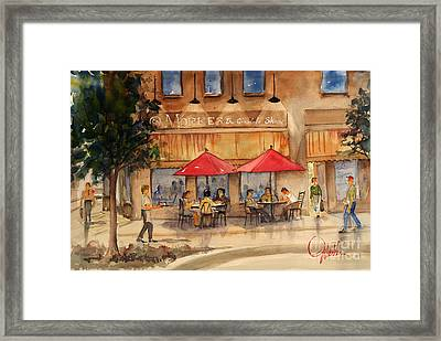 Cafe Chocolate Framed Print