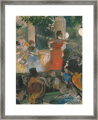 Cafe Concert At Les Ambassadeurs Framed Print by Edgar Degas