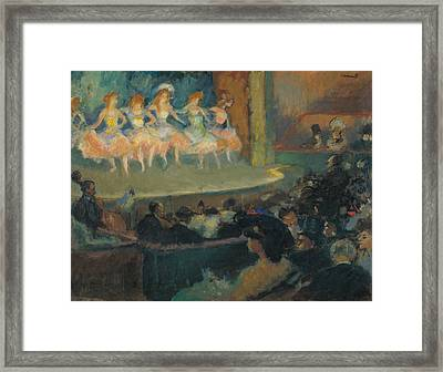 Cafe Concert Framed Print by Ricard Canals
