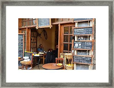 Cafe Culture Framed Print by Michele Thulborn-Chapman