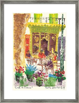 Framed Print featuring the painting Cafe De France by Martin Stankewitz