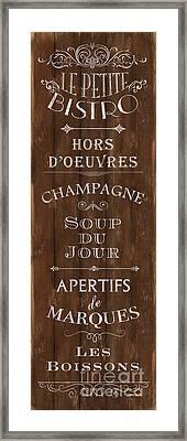 Cafe De Paris 2 Framed Print by Debbie DeWitt