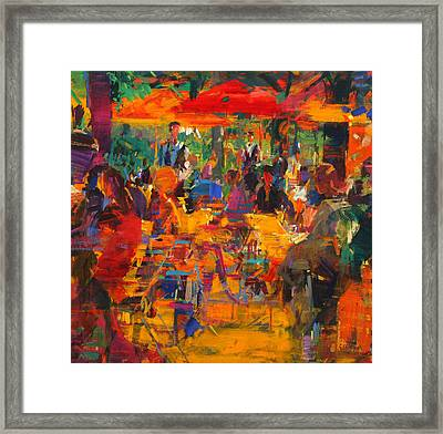 Cafe De Paris Framed Print by Peter Graham