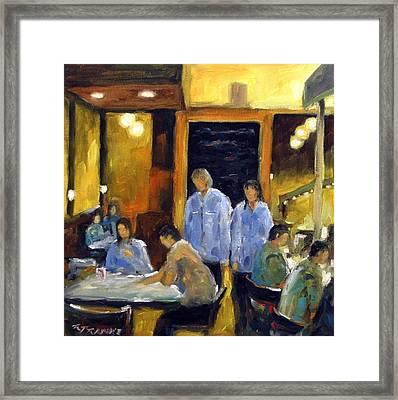 Cafe Des Artistes Framed Print by Richard T Pranke