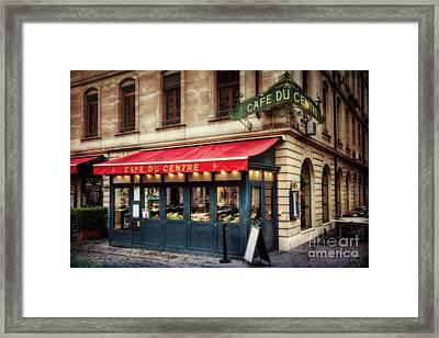 Cafe Du Centre Framed Print