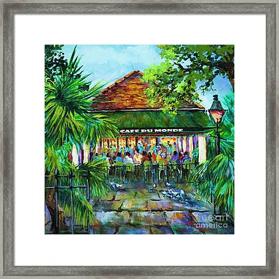 Cafe Du Monde Morning Framed Print