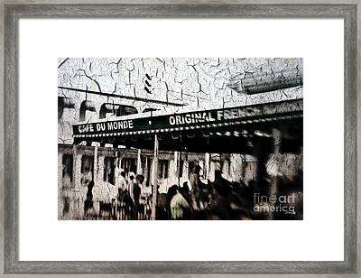Cafe Du Monde Framed Print by Scott Pellegrin