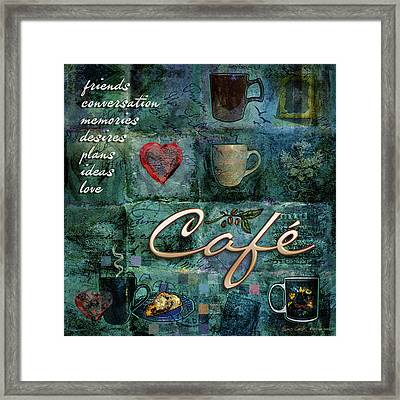 Cafe Framed Print by Evie Cook