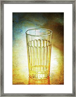 Cafe Glass Framed Print