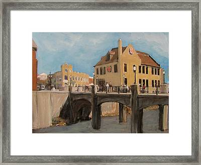 Cafe Hollander 1 Framed Print by Anita Burgermeister