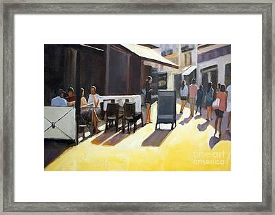 Cafe In Nice Framed Print