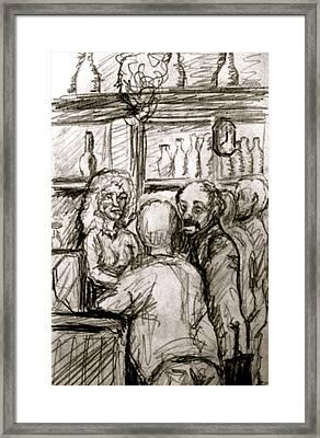 Cafe In Old Nice Framed Print by Dan Earle