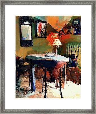 Cafe Interior 2 Framed Print