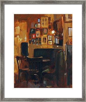 Cafe Jelinek Framed Print
