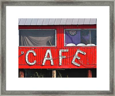 Cafe Framed Print by John Hix