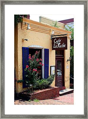Cafe Laruche Framed Print
