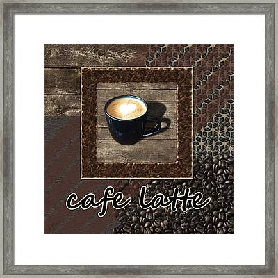 Cafe Latte - Coffee Art Framed Print by Anastasiya Malakhova