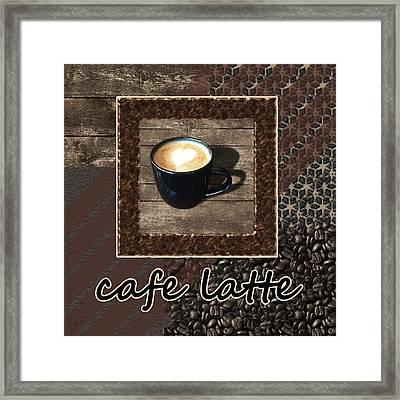 Cafe Latte - Coffee Art Framed Print