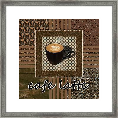 Cafe Latte - Coffee Art - Caramel Framed Print