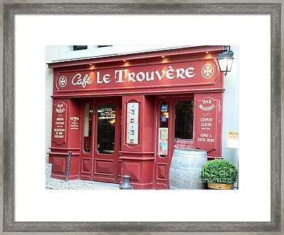 Cafe Le Trouvere Framed Print