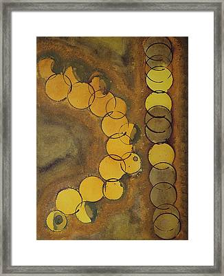 Cafe Life Original Painting Framed Print by Sol Luckman