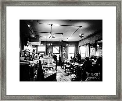 Cafe Light Framed Print by JMerrickMedia
