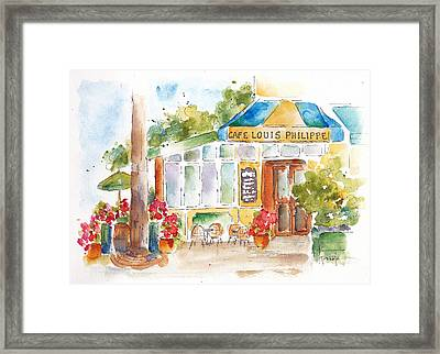 Cafe Louis Philippe Framed Print