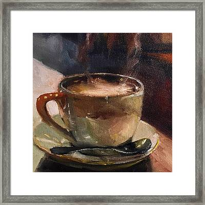 Cafe Love Coffee Painting Framed Print