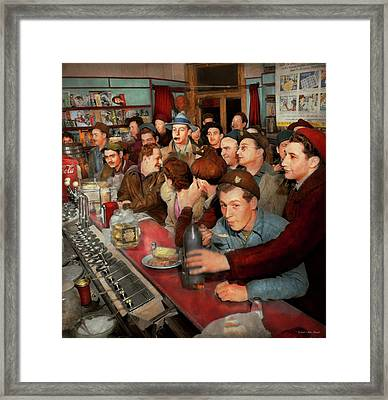 Cafe - Midnight Munchies 1943 Framed Print