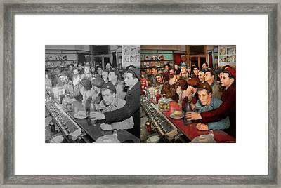 Cafe - Midnight Munchies 1943 - Side By Side Framed Print