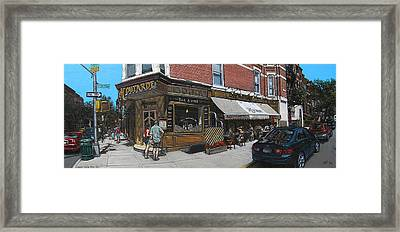 Cafe Moutarde Framed Print by Ted Papoulas