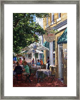 Cafe Mozart, Cape Town Framed Print by Roelof Rossouw
