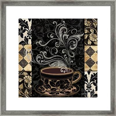 Cafe Noir I Framed Print by Mindy Sommers