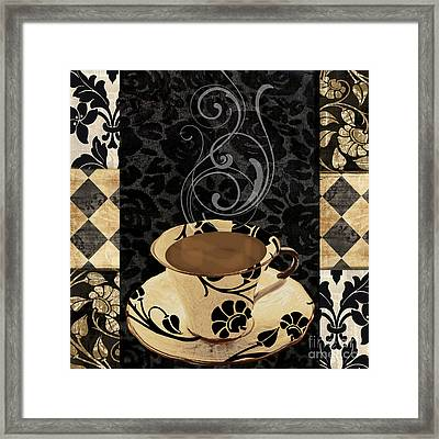 Cafe Noir IIi Framed Print by Mindy Sommers