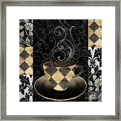 Cafe Noir Iv Framed Print by Mindy Sommers
