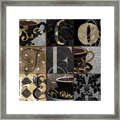 Cafe Noir Patchwork Framed Print by Mindy Sommers