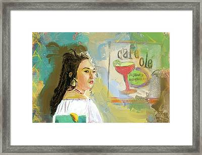 Cafe Ole Girl Framed Print