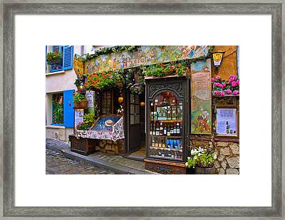 Cafe Poulbot Framed Print